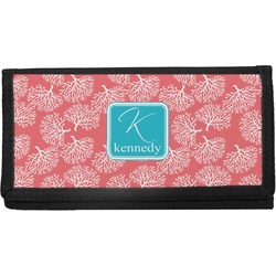 Coral & Teal Canvas Checkbook Cover (Personalized)