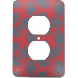 Coral & Teal Electric Outlet Plate (Personalized)