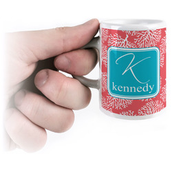 Coral & Teal Espresso Cups (Personalized)