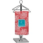 Coral & Teal Finger Tip Towel - Full Print (Personalized)