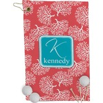 Coral & Teal Golf Towel - Full Print (Personalized)