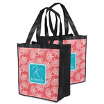 Coral & Teal Grocery Bag (Personalized)