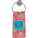 Coral & Teal Hand Towel - Full Print (Personalized)