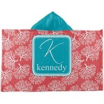 Coral & Teal Kids Hooded Towel (Personalized)