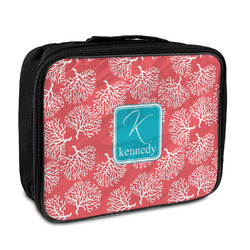 Coral & Teal Insulated Lunch Bag (Personalized)