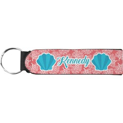 Coral & Teal Neoprene Keychain Fob (Personalized)