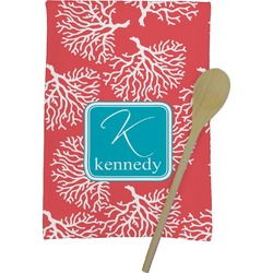 Coral & Teal Kitchen Towel - Full Print (Personalized)