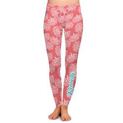 Coral & Teal Ladies Leggings (Personalized)