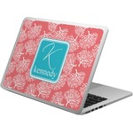 Coral & Teal Laptop Skin - Custom Sized (Personalized)