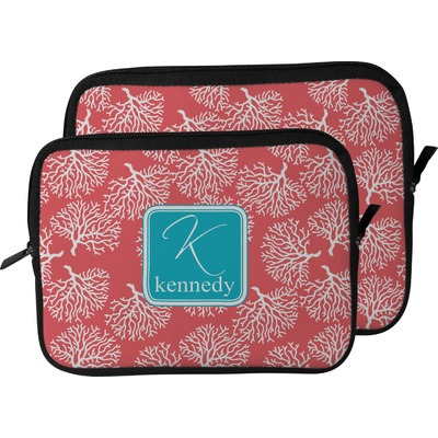 Coral & Teal Laptop Sleeve / Case (Personalized)