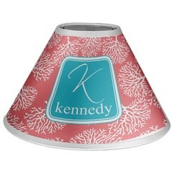 Coral & Teal Coolie Lamp Shade (Personalized)