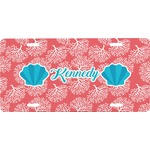 Coral & Teal Front License Plate (Personalized)