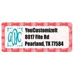 Coral & Teal Return Address Labels (Personalized)