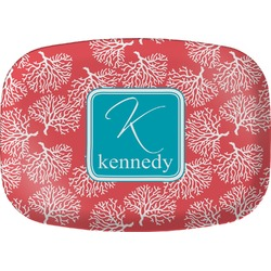 Coral & Teal Melamine Platter (Personalized)