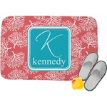 Coral & Teal Memory Foam Bath Mat (Personalized)