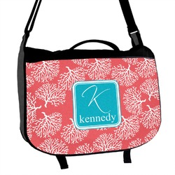 Coral & Teal Messenger Bag (Personalized)
