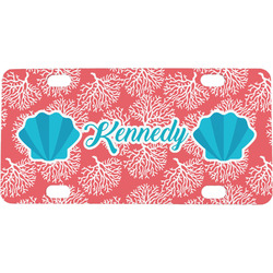 Coral & Teal Mini / Bicycle License Plate (Personalized)
