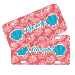 Coral & Teal Mini/Bicycle License Plates (Personalized)