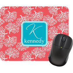 Coral & Teal Mouse Pad (Personalized)