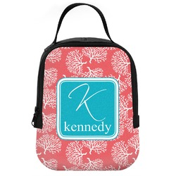 Coral & Teal Neoprene Lunch Tote (Personalized)