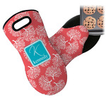 Coral & Teal Neoprene Oven Mitt (Personalized)