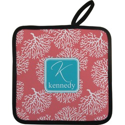 Coral & Teal Pot Holder (Personalized)