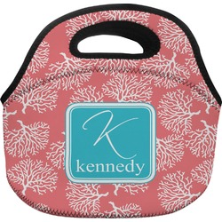 Coral & Teal Lunch Bag (Personalized)