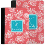 Coral & Teal Notebook Padfolio w/ Name and Initial