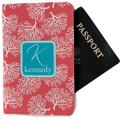 Coral & Teal Passport Holder - Fabric (Personalized)