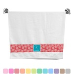 Coral & Teal Bath Towel (Personalized)