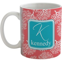 Coral & Teal Coffee Mug (Personalized)
