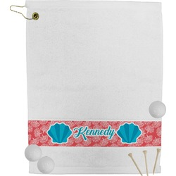 Coral & Teal Golf Towel (Personalized)