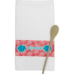 Coral & Teal Kitchen Towel (Personalized)