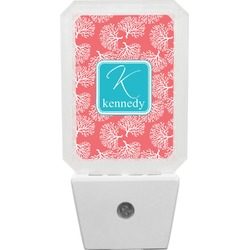 Coral & Teal Night Light (Personalized)