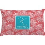Coral & Teal Pillow Case (Personalized)