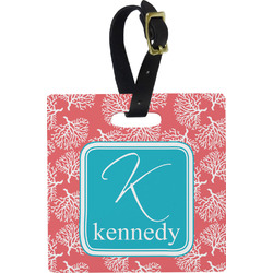 Coral & Teal Luggage Tags (Personalized)