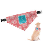 Coral & Teal Dog Bandana (Personalized)