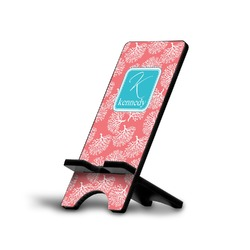 Coral & Teal Phone Stand (Personalized)