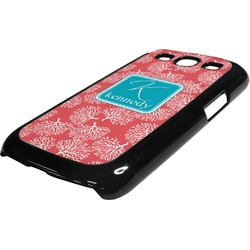 Coral & Teal Plastic Samsung Galaxy 3 Phone Case (Personalized)