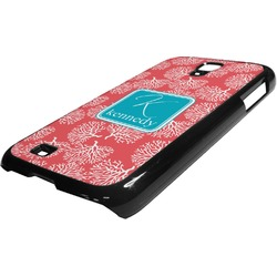 Coral & Teal Plastic Samsung Galaxy 4 Phone Case (Personalized)