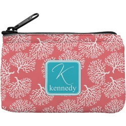 Coral & Teal Rectangular Coin Purse (Personalized)