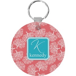 Coral & Teal Keychains - FRP (Personalized)