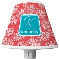 Coral & Teal Shade Night Light (Personalized)