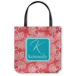 Coral & Teal Canvas Tote Bag (Personalized)