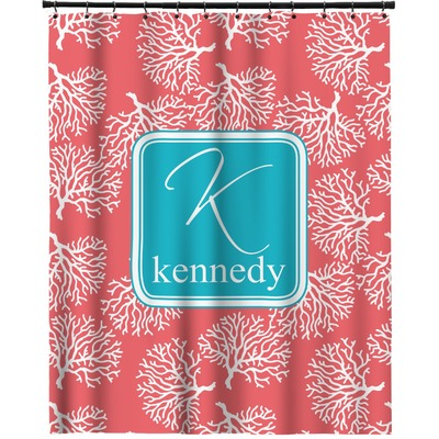 Coral Amp Teal Extra Long Shower Curtain