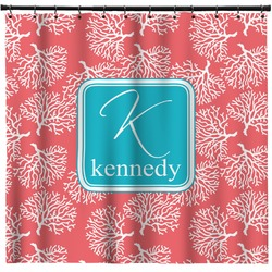 Coral & Teal Shower Curtain (Personalized)