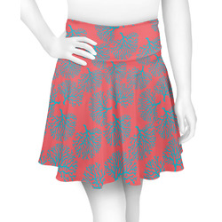 Coral & Teal Skater Skirt (Personalized)