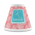 Coral & Teal Chandelier Lamp Shade (Personalized)