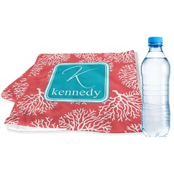 Coral & Teal Sports Towel (Personalized)