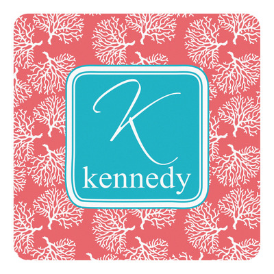 Coral & Teal Square Decal (Personalized)